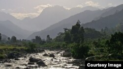 Loss of glaciers in the Ruwenzori Mountains threatens plant and animal life in the protected areas of the range and threatens local water supplies. (Uganda Wildlife Authority)