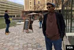 French Djibouti writer and academic Abdourahman Waberi is against President Emmanuel Macron's grand plan. (L.Bryant / VOA)