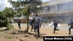 Polisi ya Kongo iriko iburizamwo Imyiyerekano