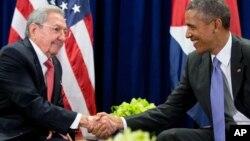 Рауль Кастро та Барак Обама