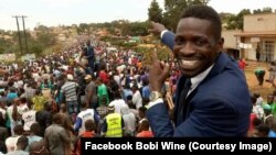 """Bobi Wine, """"président du ghetto"""" et star du reggae devenu député en Ouganda, juin 2017. (Facebook/Bobi Wine)"""