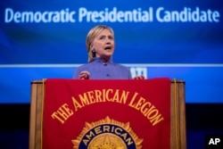 Hillary Clinton speaking to American Legion. (AP)