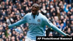 Pemain Manchester City Yaya Toure dalam sebuah pertandingan Liga Premier Inggris. (Foto: Dok)