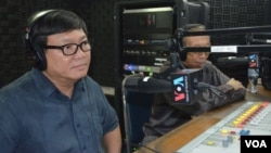 "Sam Rainsy Party lawmaker Son Chhay, left, joined ""Hello VOA"" on Thursday along with Soubert, who is the current head of the Human Rights Party."
