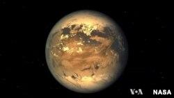 Umjetničko viđenje planete Kepler 186f.