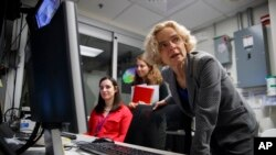 Opiods Inside the Brain Dr. Nora Volkow, director of the National Institute on Drug Abuse, works in the MRI lab at the National Institutes of Health's research hospital in Bethesda, Md., on Thursday May 16, 2019.