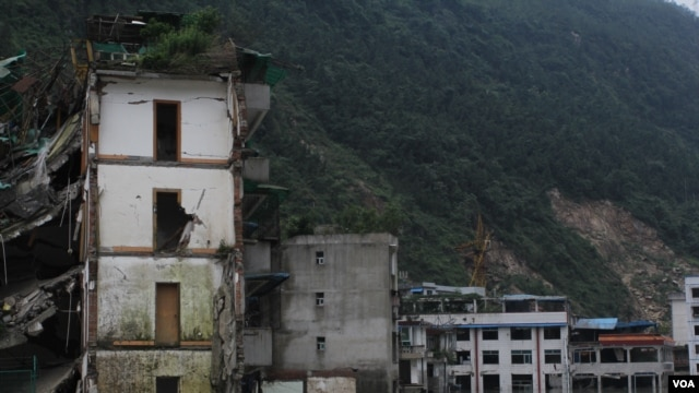 The mountain city of Beichuan.