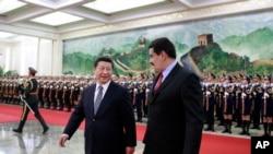 马杜罗2015年1月7日访问北京(美联社)