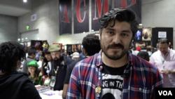 Kepala Pemasaran dari perusahaan Comixology, Ivan Salazar, di Comic Con 2018 (Dok: VOA)
