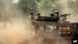 Binh sĩ Israel gần biên giới với Gaza, ngày 19/7/2014.