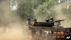 7月19日以色列士兵在以色列與加沙交接地帶