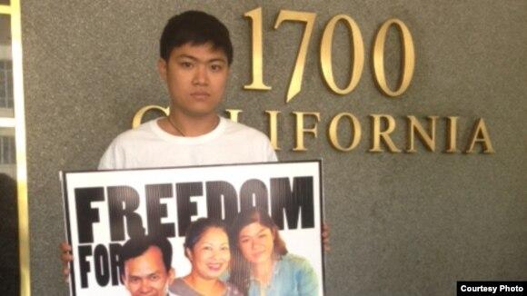 Trần Bùi Trung con của nhà hoạt động Bùi Thị Minh Hằng khởi sự chuyến quốc tế vận tới Mỹ 3 tuần trước khi lên đường sang Australia