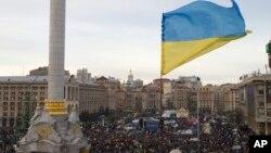12月3 日烏克蘭抗議者集會