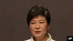 3.1절 기념식에서 연설하는 박근혜 대통령