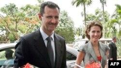 Президент Сирії Башар аль-Асад з дружиною Асмою