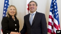 Хиллари Клинтон и премьер-министр Грузии Ника Гилаури