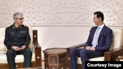 دیدار مقام ارشد نظامی جمهوری اسلامی با بشار اسد در دمشق
