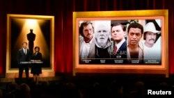 Актер Крис Хемсворт и президент Академии игрового кино Шерил Бун представляют номинантов на «Оскар». Беверли Хиллс, Калифорния. 16 января 2015 г.
