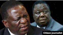 에머슨 음난가그와 짐바브웨 전 부통령 (왼쪽).