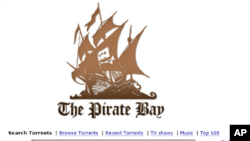The Pirate Bay (piratebay.org) is one of the most popular BitTorrent file-sharing sites on the Internet