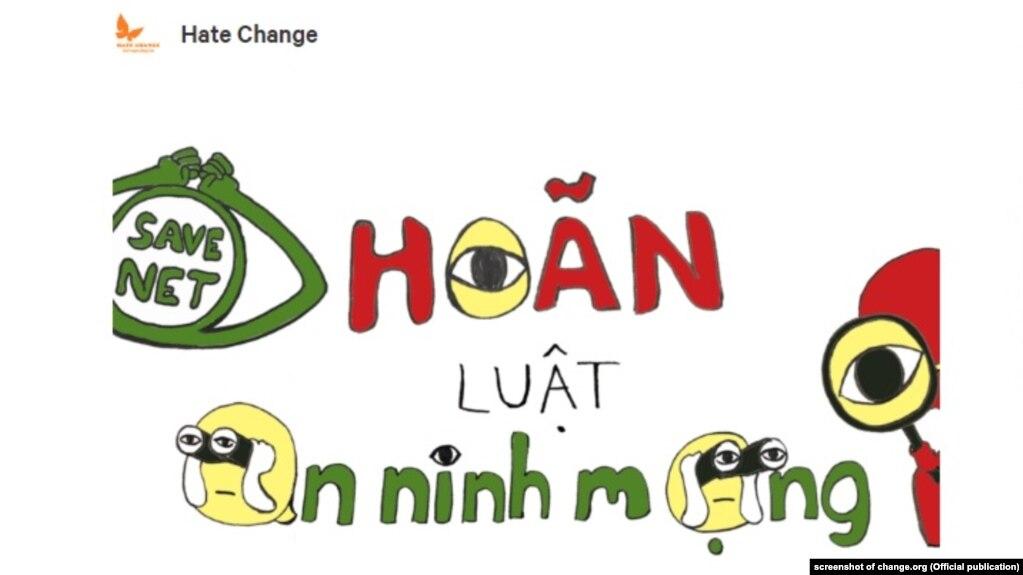 Khoảng 70.000 người đã ký vào một thỉnh nguyện thư yêu cầu Quốc hội Việt Nam hoãn thi hành Luật An ninh mạng. Ngày 21/12, tổ chức theo dõi nhân quyền quốc tế (HRW) cũng đưa ra lời kêu gọi tương tự chỉ 2 tuần trước khi bộ luật này có hiệu lực.