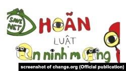 Hơn 69.000 người đã ký vào bản kiến nghị yêu cầu Quốc hội Việt Nam hoãn thi hành Luật An ninh mạng.
