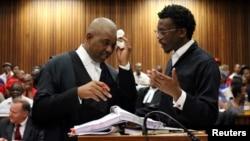 Des avocats lors d'un procès à Pretoria, Afrique du Sud, 2 novembre 2016.
