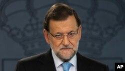 PM Spanyol Mariano Rajoy di Istana Moncloa di Madrid (11/11).