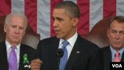 美國總統奧巴馬總統在國情咨文演說中曾經警告強制削減開支後果嚴重。
