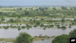 Região de Mutarara em Moçambique durante as cheias de 2008