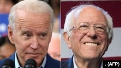 Mantan Wakil Presiden AS Joe Biden (kiri) kembali mengalahkan Senator Vermont Bernie Sanders dalam pemilihan pendahuluan calon presiden Partai Demokrat, Selasa (10/3).