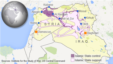 Areas of Islamic State control or support in Syria and Iraq