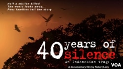 Poster film '40 Years in Silence: An Indonesian Tragedy', sebuah film dokumenter yang mengisahkan tragedi pembunuhan massal pada massa G30S PKI tahun 1965.