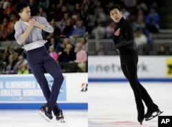 Vincent Zhou and Nathan Chen