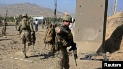 U.S. troops in Wardak province, Afghanistan in September.