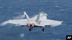 Máy bay chiến đấu F/A-18 Hornet của Mỹ.