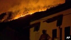 Vila de Avelar ardendo no Domingo, 18 de Junho, 2017