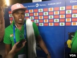 Zimbabwean midfielder Willard Katsande after the game against Tunisia in Libreville, Gabon.