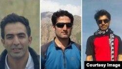 برخی فعالان بازداشت شده؛ از راست: عیسی فیضی، رضا اسدی، هادی کمانگر