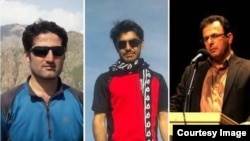 فعالان کرد حزب وحدت ملی و فعال محیط زیست، از راست فرهاد محمدی، عیسی فیضی، رضا اسدی