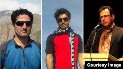تعدادی از فعالان کرد بازداشت شده، از راست فرهاد محمدی، عیسی فیضی رضا اسدی