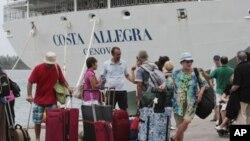 """""""科斯塔‧阿萊格拉""""號星期四在塞舌爾群島靠岸"""