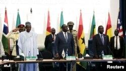 Shugaba Muhammadu Buhari na Najeriya a taron ECOWAS
