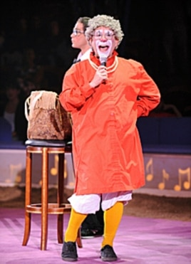 Professional clown Barry Lubin looks forward to the Big Apple performances for children with special needs.