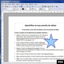 La edición de documentos de texto es muy sencilla, y permite el uso de gráficos que automáticamente encajan con los párrafos.