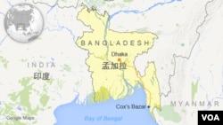 孟加拉 印度地图