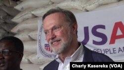 Le sous-secrétaire d'Etat américain Tibor Nagy à Goma, en RDC, le 14 mars 2019. (VOA/Charly Kasereka)