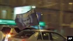 2月18日在莫斯科举行的支持普京汽车奔跑活动