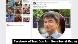 Trang Facebook của ông Trần Đức Anh Sơn. 1/3/2019
