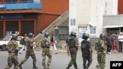 Binh sĩ Madagascar tuần tra trên đường phố ở thủ đô Antananarivo, ngày 18/11/2010